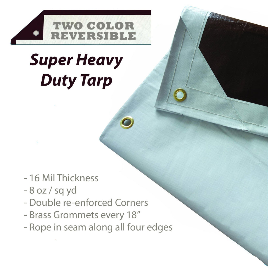 HydraTarp Heavy Duty Waterproof Tarp by Watershed Innovations 16 mil thick