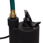 12V Utility Submersible with hose connected
