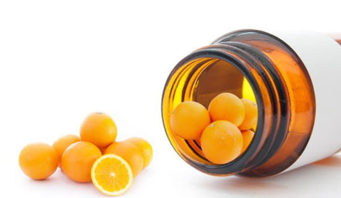 small oranges as pills image