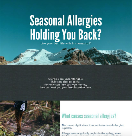 Naturally fight back Against Allergies