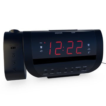 Rated Best Alarm Clock Radio With Time Projection, USB Charger For ...