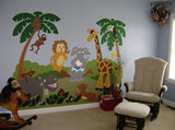 Jungle Story - Large Paint-by-Number Wall Mural