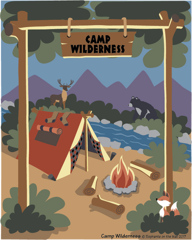 Camp Wilderness Paint-by-Number Mural