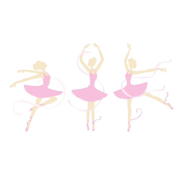 Three Ballerinas Wall Mural
