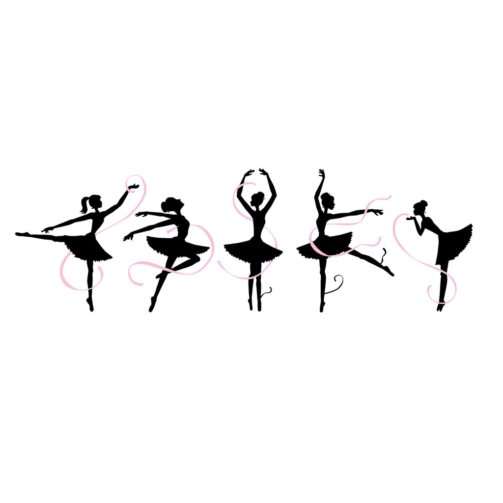 five ballerinas paint by number wall mural elephants on the wall five ballerinas paint by number wall mural