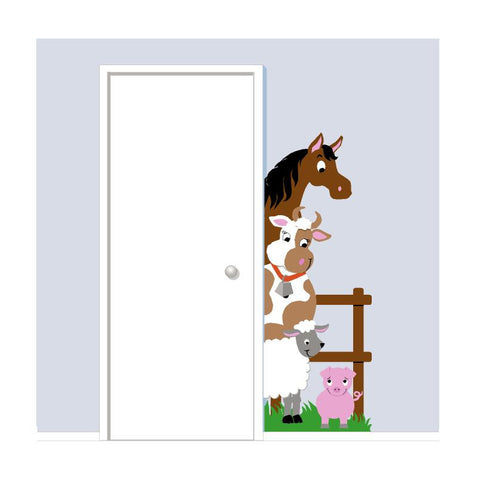 Barnyard Doorhugger Paint-by-Number Wall Mural