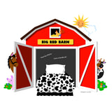 Big Red Barn Chalkboard Paint-by-Number Wall Mural