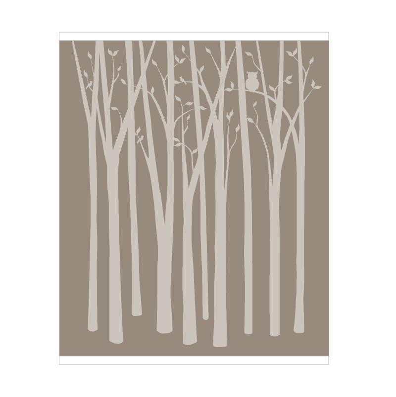 Birch Tree Silhouettes Paint By Number Wall Mural ... Part 37