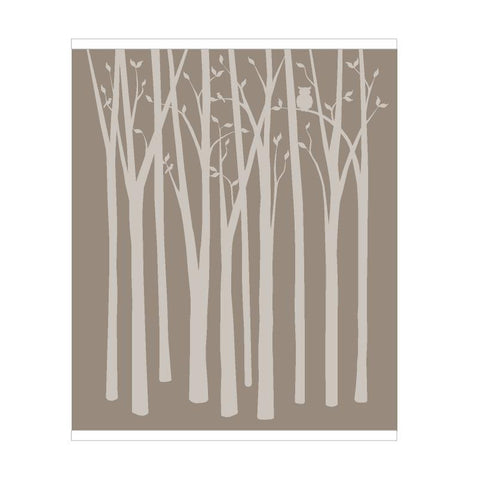 Birch Tree Silhouettes Wall Mural