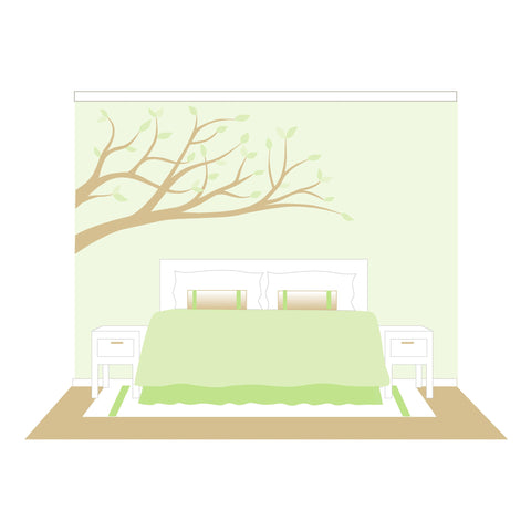 Branches Wall Paint-by-Number Mural