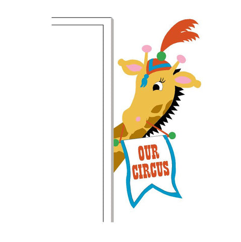 Circus Giraffe Doorhugger Paint-by-Number Mural