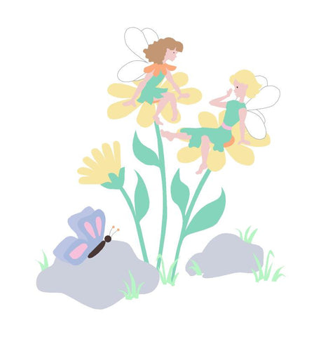 Daisy Fairies Paint-by-Number Wall Mural