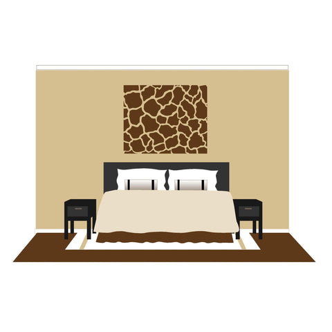 Giraffe Spots - Small Paint-by-Number Wall Mural