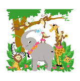 Jungle Hula Party Paint-by-Number Wall Mural