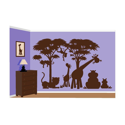 Large Silhouette P.1 Paint-by-Number Wall Mural
