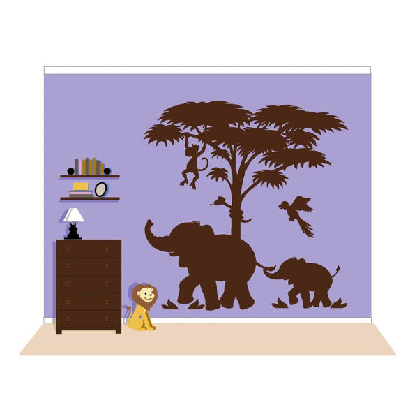 Lg. Silhouette P.2 Paint-by-Number Wall Mural