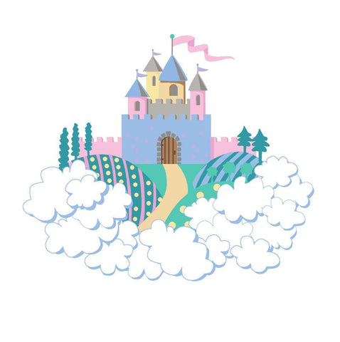 Mini Princess Castle Paint-by-Number Wall Mural