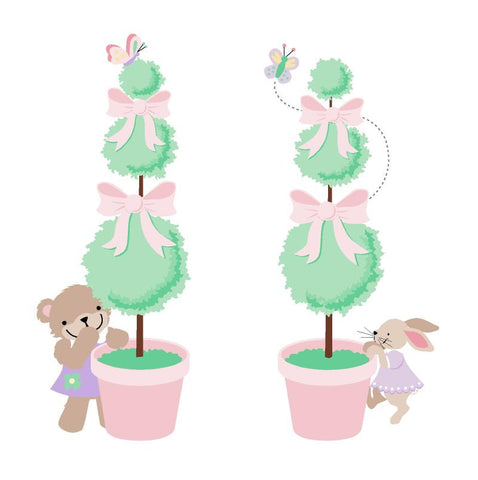 Mini Topiaries Paint-by-Number Wall Mural