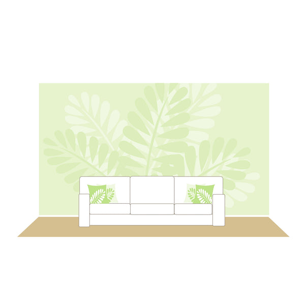 mega ferns paint by number wall mural elephants on the wall. Black Bedroom Furniture Sets. Home Design Ideas
