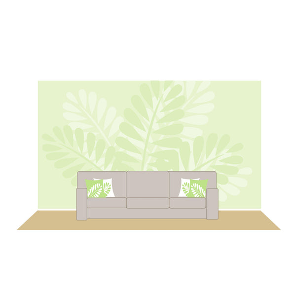Mega Ferns Paint-by-Number Wall Mural