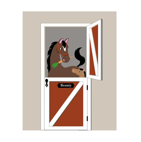 """Neigh..."" bors Paint-by-Number Wall Mural"