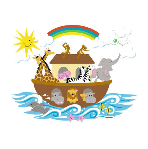Noah's Ark - Small Paint-by-Number Wall Mural