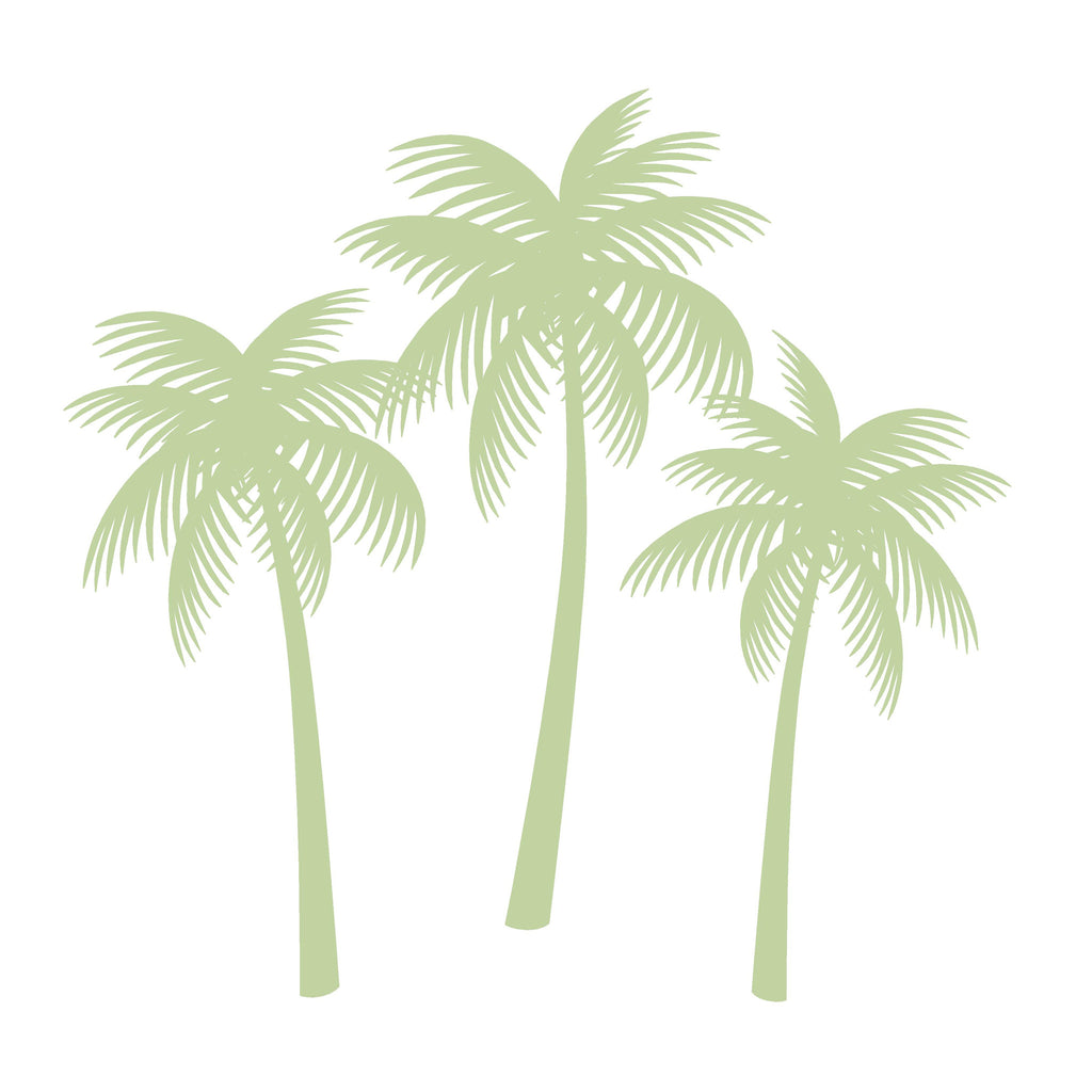 Palm Tree Silhouettes Paint-by-Number Wall Mural – Elephants on the Wall