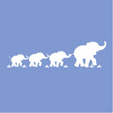 Parade of Elephants Paint-by-Number Wall Mural