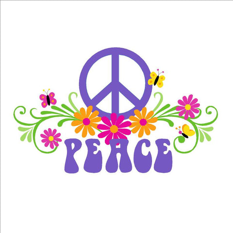PEACE & Flowers - LG Wall Mural