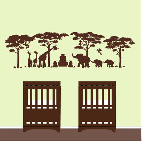 Safari Twins Wall Mural