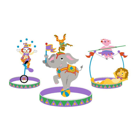 The Three Ring Circus-Small Wall Mural