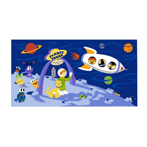 Space Tours - Paint-by-Number Wall Mural