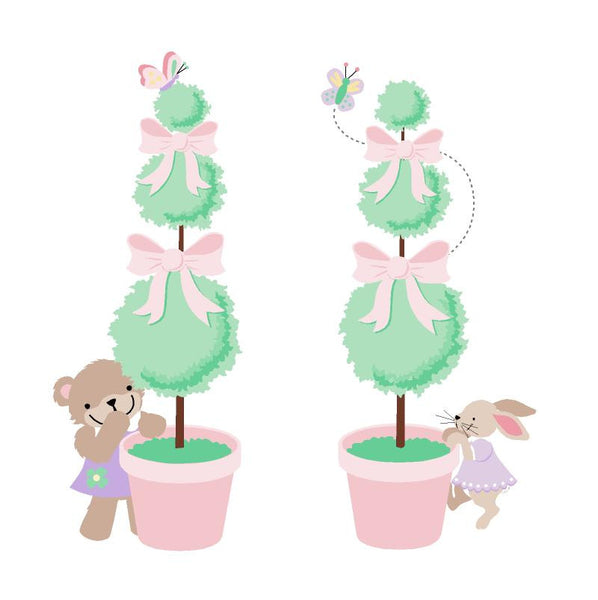 Teddy Bear Topiaries Wall Mural