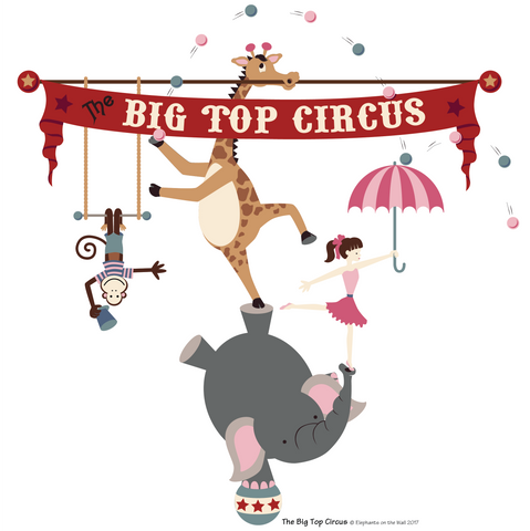 The Big Top Circus Paint-by-Number Wall Mural