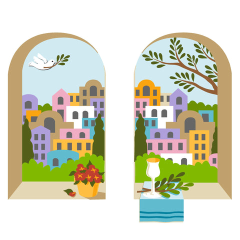 Windows on Jerusalem Wall Mural