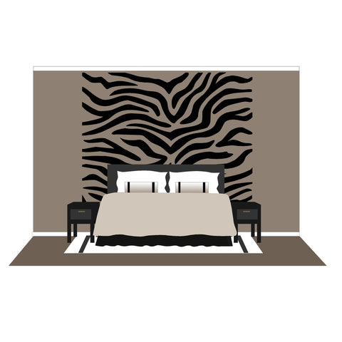 Zebra Stripes - Large Wall Mural