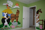 Barnyard Friends Paint-by-Number Wall Mural