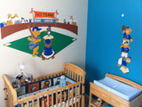 Baseball Bears - Small - Paint-by-Number Wall Mural