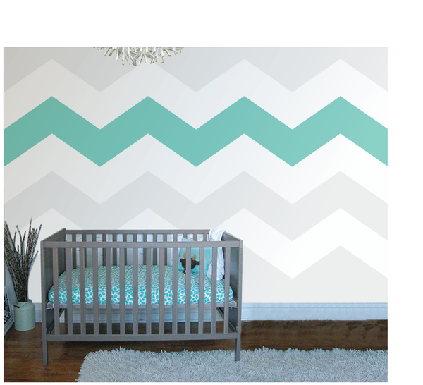 Chevron Four Paint-by-Number Wall Mural