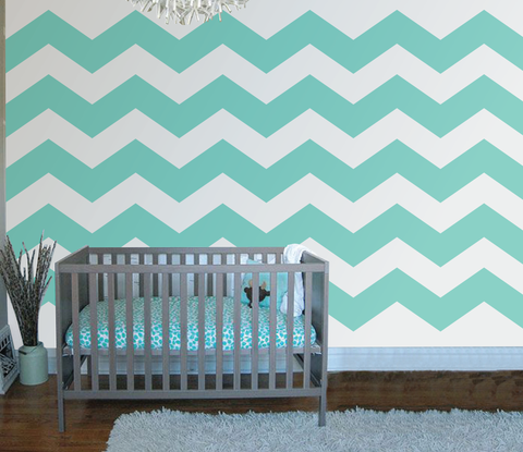 Chevron Five Paint-by-Number Wall Mural