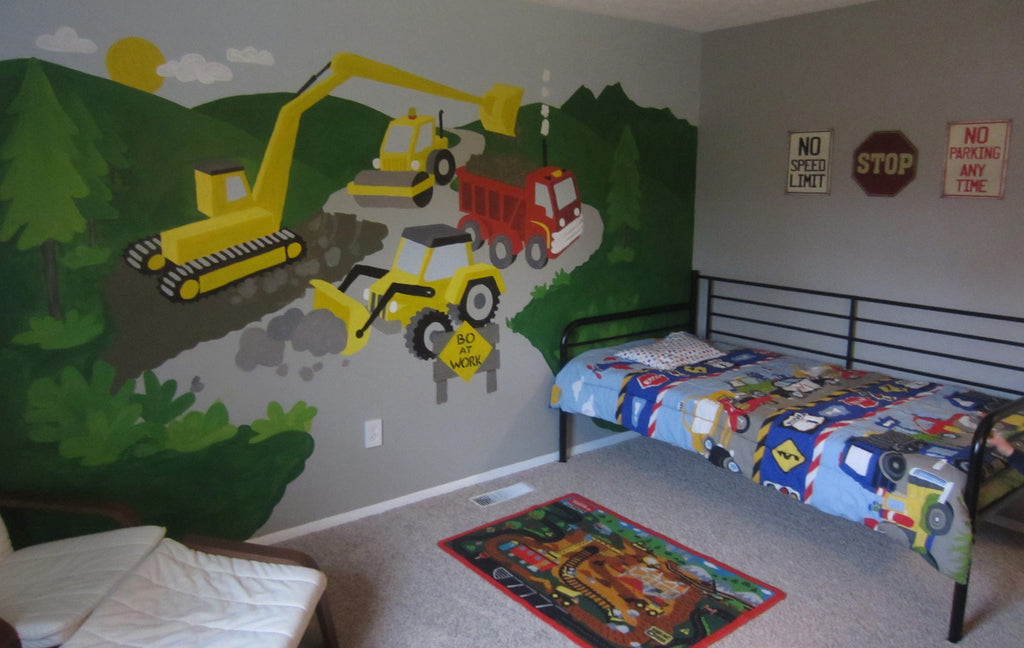 ... Large Under Construction Paint By Number Wall Mural