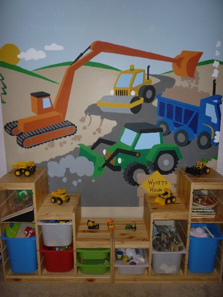 ... Large Under Construction Paint By Number Wall Mural ... Part 49