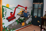Large Under Construction Wall Mural
