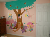 Enchanted Tree House Paint-by-Number Mural