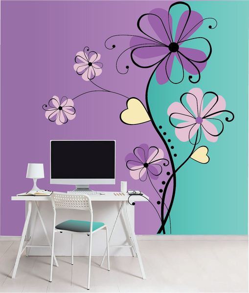 Fantasy Flowers 5 Paint-by-Number Mural