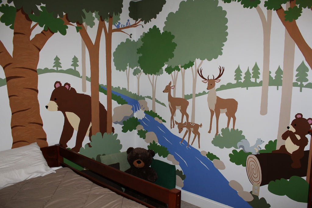Forest Friends Paint by Number Wall Mural Elephants on the Wall