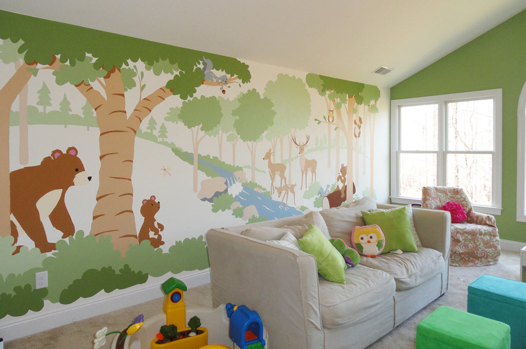 ... Forest Friends Paint By Number Wall Mural ... Part 27
