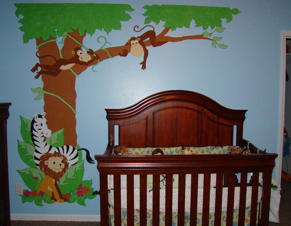 ... Jungle Hula Party Paint By Number Wall Mural Part 79