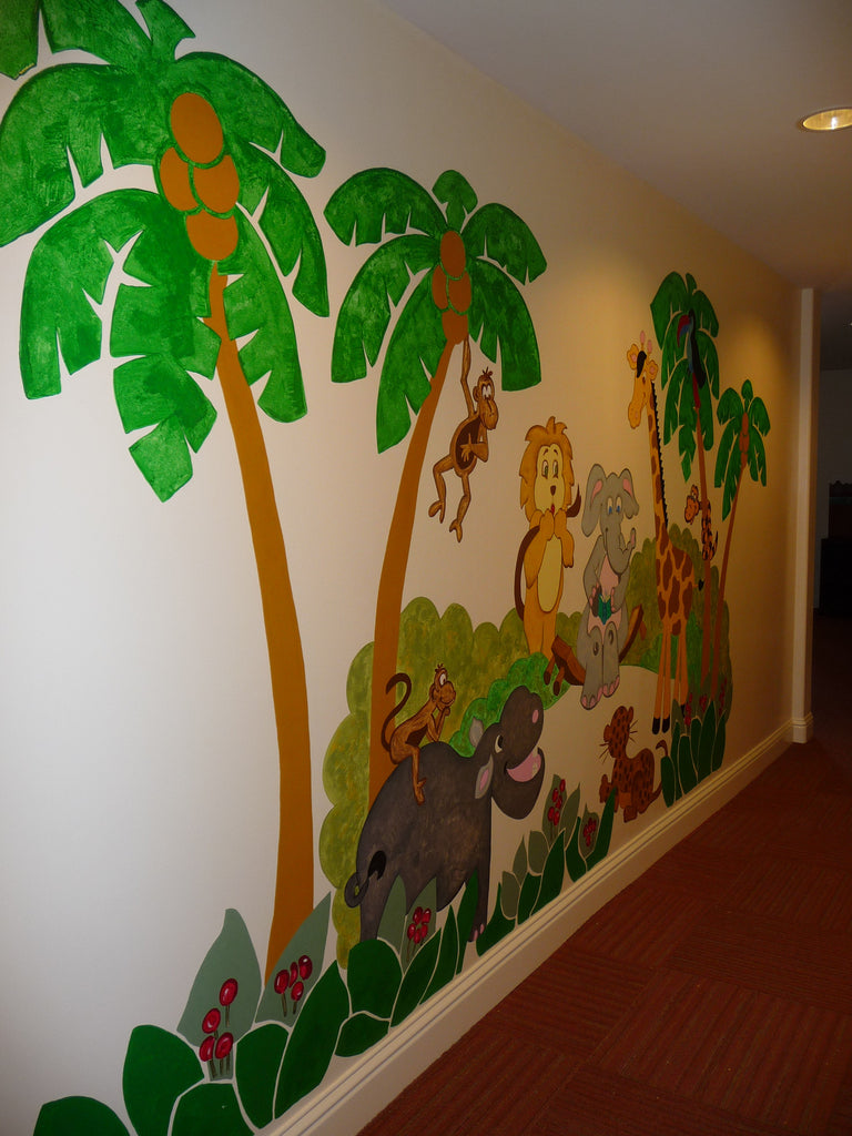 ... Jungle Story   Large Paint By Number Wall Mural ... Part 37