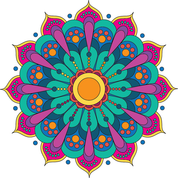 Small Mandala 1 Paint-by-Number Mural